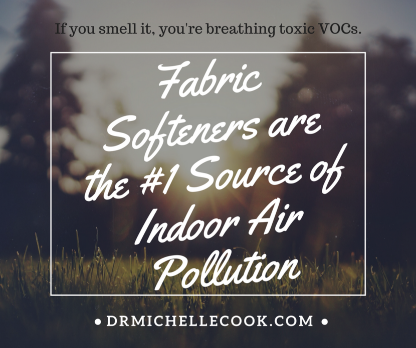 Fabric softeners are the number 1 source of indoor air pollution