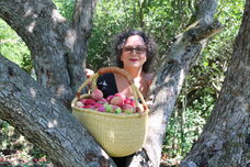 Dr. Michelle with the Empress Apple Tree